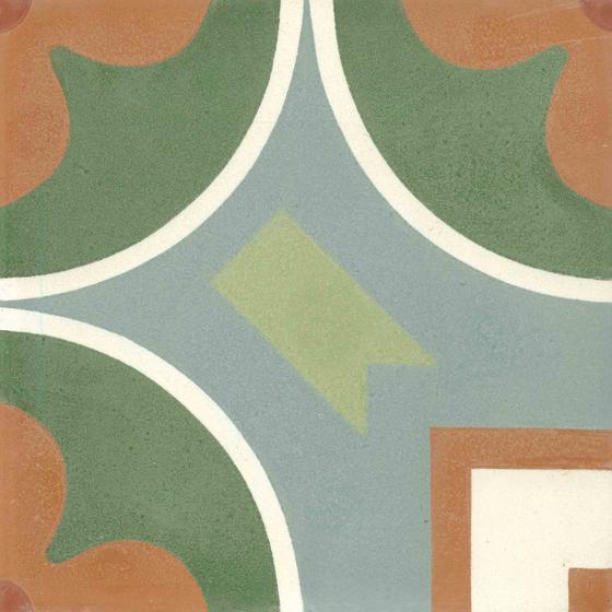 Zementmosaikplatte von VIA | Dekor historisch