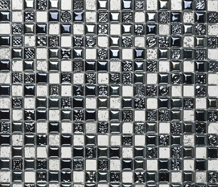 Air Black Silver Decor by Porcelanosa | Ceramic mosaics