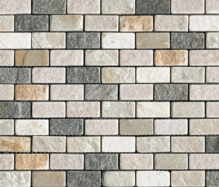 Anticato Brick Lhasa Shanan Burma de Porcelanosa | Mosaïques en pierre naturelle