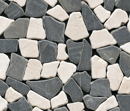 Anticato Broken Edge Negro Crema by Porcelanosa | Natural stone mosaics