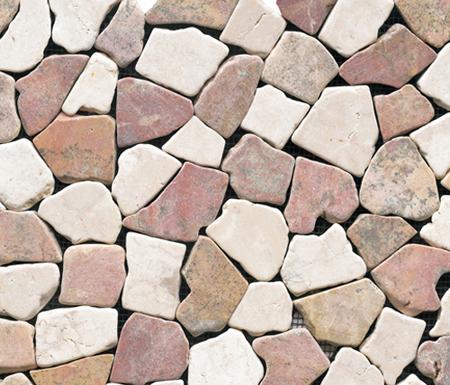 Anticato Broken Edge Rojo Crema de Porcelanosa | Natural stone mosaics