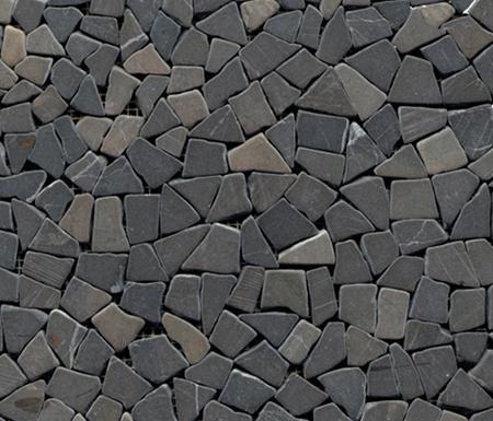 Anticato Mini Broken Edge Negro by Porcelanosa | Natural stone mosaics