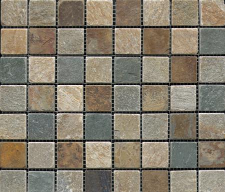 Anticato Multicolor Slate by Porcelanosa | Natural stone mosaics