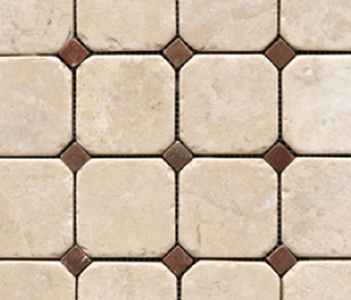 Anticato Octogono Crema by Porcelanosa | Natural stone mosaics