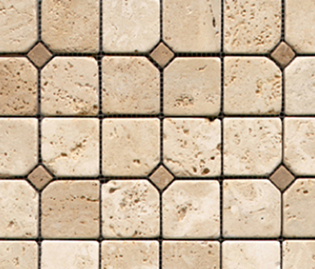 Anticato Pentagono Beige by Porcelanosa | Natural stone mosaics
