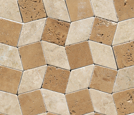 Anticato Rombos Noche Moka by Porcelanosa | Natural stone mosaics