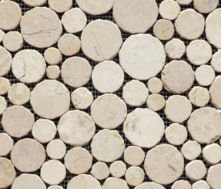 Anticato Round Stone Blanco by Porcelanosa | Natural stone mosaics