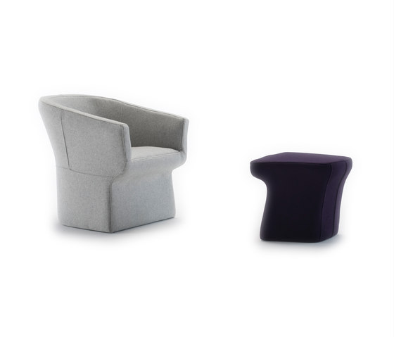 Fedele armchair & pouf von viccarbe | Sessel