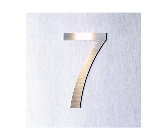 Siedle Steel house number raised by Siedle | House numbers / letters