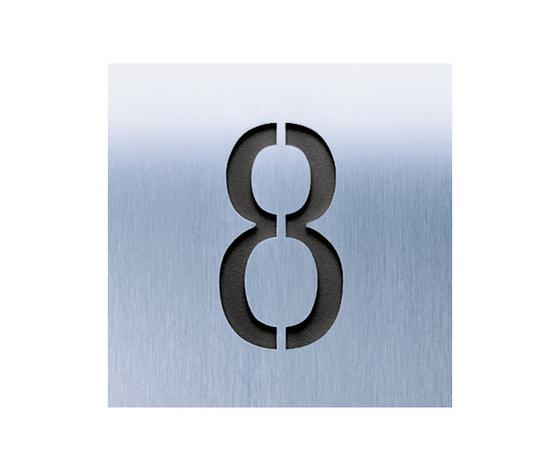 Siedle Steel Hausnummer gelasert von Siedle | Hausnummern / Buchstaben