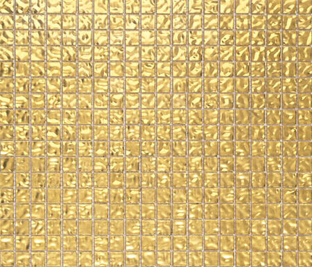 Fashion Gold Wavy 1x1 by Porcelanosa | Glass mosaics
