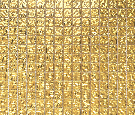 Fashion Gold Wavy 2-3x2-3 by Porcelanosa | Glass mosaics