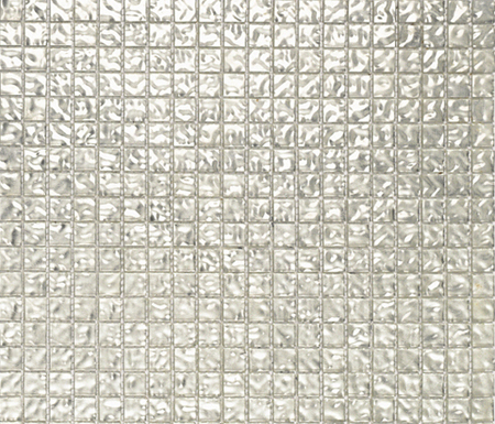 Fashion Gold White Wavy 1x1 by Porcelanosa | Glass mosaics