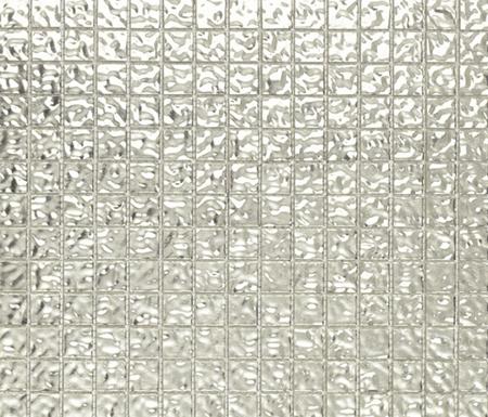 Fashion Gold White Wavy 2-3x2-3 by Porcelanosa | Glass mosaics