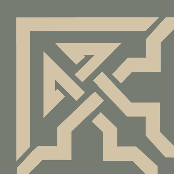 Zementmosaikplatte von VIA | Beton-/Zementböden