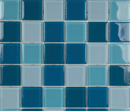 Glacier Mix Azules 5x5 by Porcelanosa | Glass mosaics