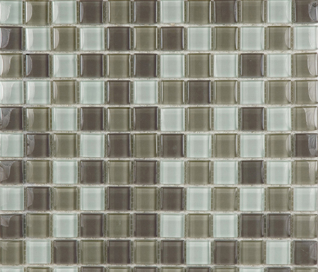 Glacier Mix Blanco Crema Chocolate 2-3x2-3 by Porcelanosa | Glass mosaics