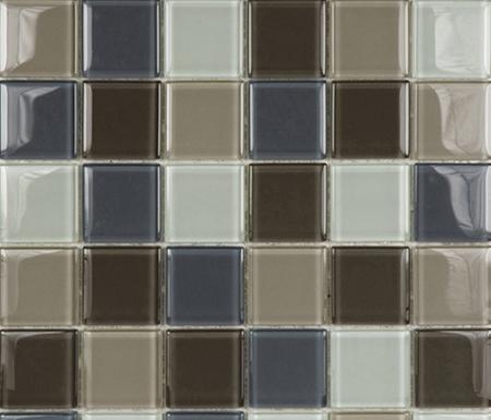 Glacier Mix Cremas 5x5 by Porcelanosa | Glass mosaics