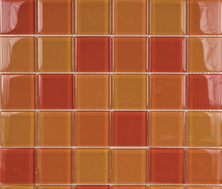Glacier Mix Naranjas 5x5 de Porcelanosa | Mosaïques verre