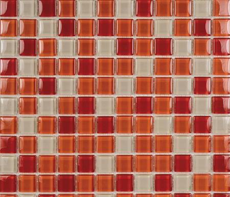 Glacier Mix Rojos 2-3x2-3 by Porcelanosa | Glass mosaics