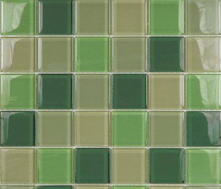 Glacier Mix Verdes 5x5 by Porcelanosa | Glass mosaics