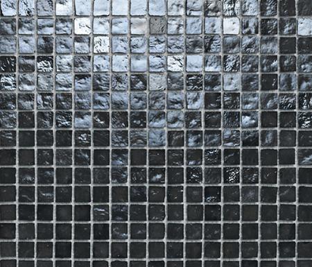 Mini Iris Black by Porcelanosa | Glass mosaics