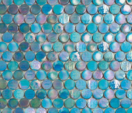 Island Cold Circle by Porcelanosa | Glass mosaics