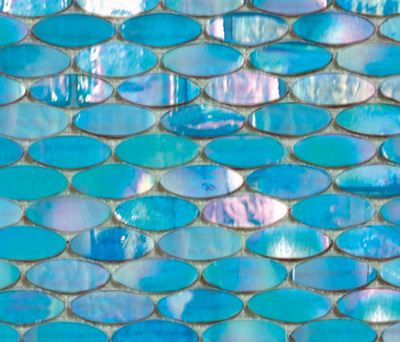 Island Cold Ellipse by Porcelanosa | Glass mosaics