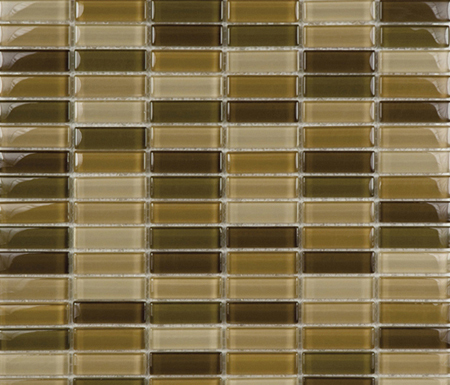 Metallic Glacier Mix Tierra 1-5x5 by Porcelanosa | Glass mosaics