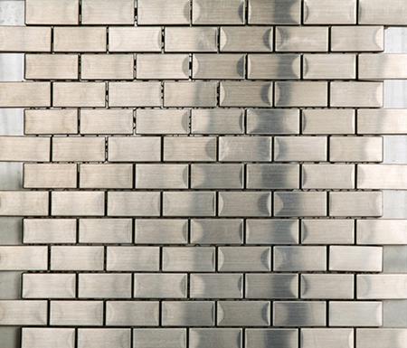 Noohn Metal Mosaics Brick Acero by Porcelanosa | Metal mosaics