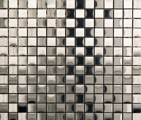 Noohn Metal Mosaics Acero 2x2 de Porcelanosa | Mosaïques métal