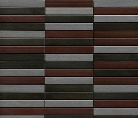 Noohn Metal Mosaics Acero Niquel Cobre de Porcelanosa | Mosaicos de metal