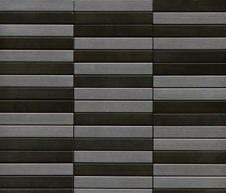 Noohn Metal Mosaics Acero Niquel de Porcelanosa | Mosaïques