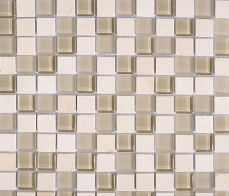 Noohn Stone Glass Mosaics Mix Glacier Crema by Porcelanosa | Glass mosaics