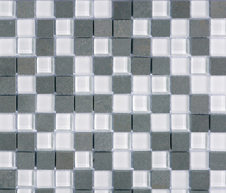 Noohn Stone Glass Mosaics Mix Glacier Nieve by Porcelanosa | Glass mosaics