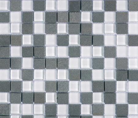 Noohn Stone Glass Mosaics Mix Glacier Nieve de Porcelanosa | Mosaicos