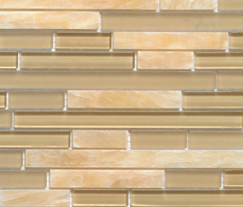 Noohn Stone Glass Mosaics Strip Mix Onix Glacier Honey by Porcelanosa | Glass mosaics