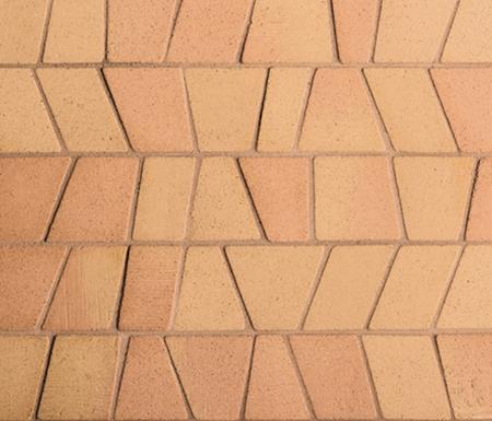 Noohn Terracotta Mosaics Puzzle Manual Miel by Porcelanosa | Facade cladding