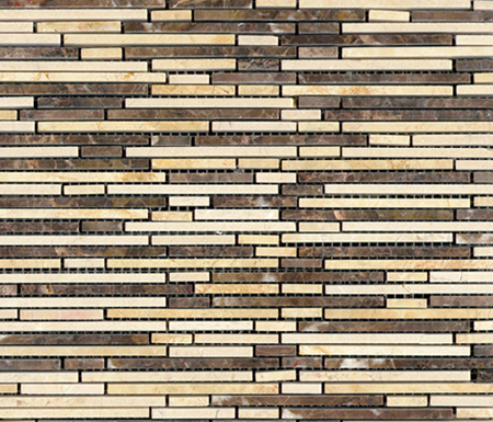 Pulidos Aichi Brik Browns by Porcelanosa | Natural stone mosaics