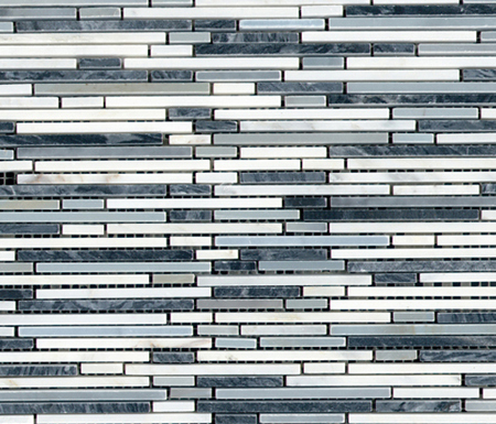 Pulidos Aichi Brik Greys by Porcelanosa   Natural stone mosaics