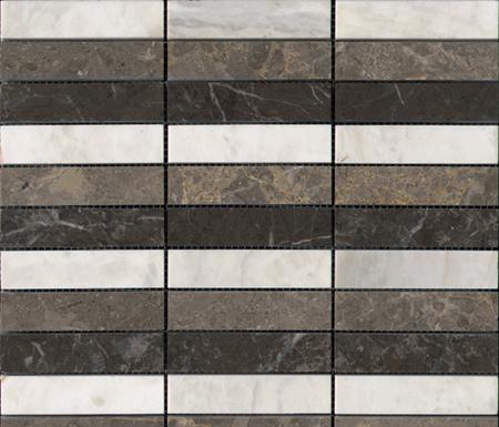 Pulidos Linear Habana Grey Brown Bco von Porcelanosa | Naturstein Mosaike