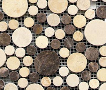 Pulidos Moon Mix Browns by Porcelanosa | Natural stone mosaics
