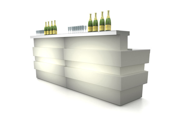 Tetris Luce by PEDRALI | Bar counters
