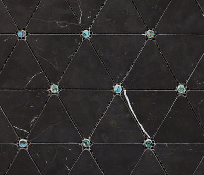 Victorian Diamond Negro Marquina Pearl by Porcelanosa | Natural stone mosaics