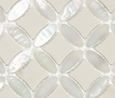 Victorian Island Star White by Porcelanosa | Natural stone mosaics