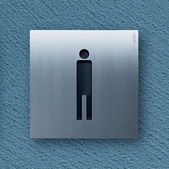 Siedle Steel pictogram by Siedle | Toilet signs