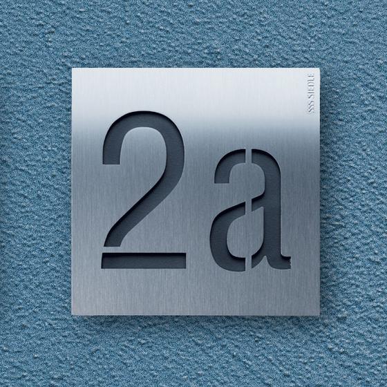 Siedle Steel lettering di Siedle | Numeri civici / abitazione