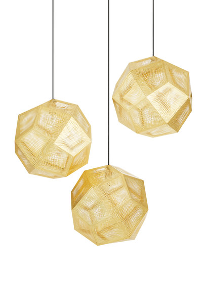 Etch Pendant Brass 50cm by Tom Dixon | General lighting