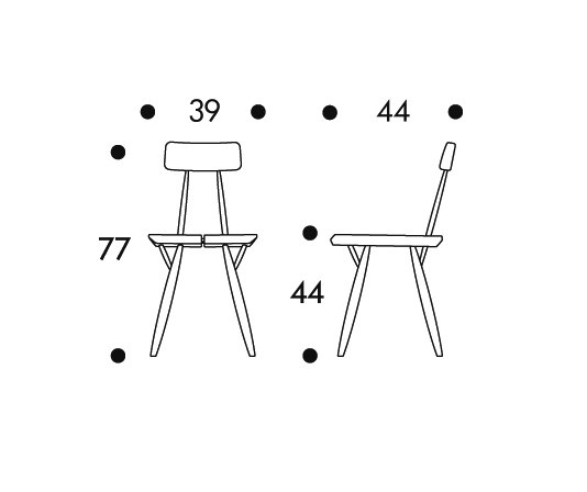 Pirkka Chair by Artek | Restaurant chairs