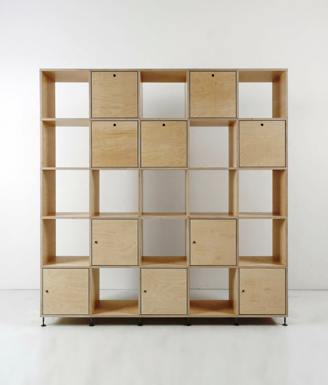 Tius 05 natura flaps/doors by Plan W | Office shelving systems